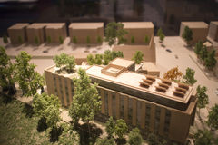 Modello architettonico dell'annesso della costruzione Immagine Stock