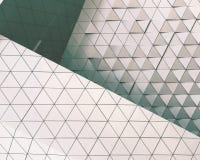 Modello architettonico dell'illustrazione astratta 3D Immagini Stock