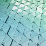 Modello architettonico dell'illustrazione astratta 3D Immagine Stock