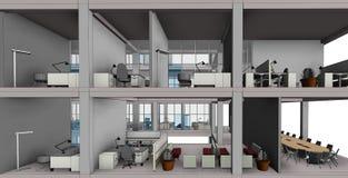 Modello architettonico della costruzione del disegno di schizzo fotografie stock libere da diritti