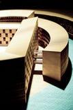 Modello architettonico di legno nel museo Olanda di Rotterdam immagine stock libera da diritti