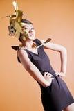 Modello asiatico nell'immagine creativa Fotografia Stock Libera da Diritti