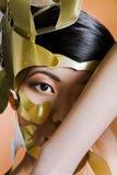 Modello asiatico nell'immagine creativa Fotografia Stock