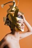 Modello asiatico nell'immagine creativa Fotografie Stock