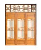 Modello asiatico tradizionale della porta e della finestra, legno, stile cinese w Fotografie Stock