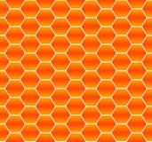 Modello astratto arancio senza cuciture degli esagoni illustrazione di stock