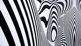 Modello astratto in bianco e nero Immagine Stock Libera da Diritti