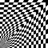 Modello astratto, in bianco e nero, curvatura di spazio, angolo di royalty illustrazione gratis
