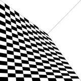 Modello astratto, in bianco e nero, curvatura di spazio, angolo di illustrazione di stock