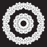 Modello astratto in bianco e nero, mandala Fotografie Stock Libere da Diritti