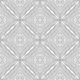 Modello astratto in bianco e nero per le pagine di coloritura Fotografia Stock