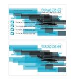 Modello astratto blu e nero del biglietto da visita Fotografia Stock Libera da Diritti