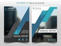 Modello astratto blu VE di progettazione dell'opuscolo del rapporto annuale del triangolo royalty illustrazione gratis