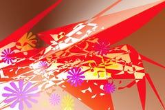 Modello astratto con degli gli elementi colorati multi che somigliano vago ad un'aragosta royalty illustrazione gratis