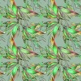 Modello astratto con gli elementi floreali Fotografia Stock