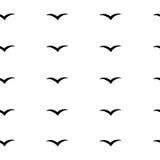 Modello astratto con gli uccelli, fondo del v-modello, illustrazione di vettore, uccelli disegnati a mano Immagini Stock Libere da Diritti
