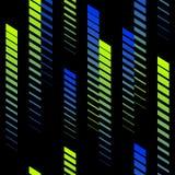 Modello astratto con la pendenza verticale che sbiadisce le linee, piste, bande di semitono Modello estremo Modello di sport illustrazione di stock