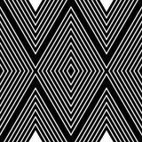 Modello astratto con le linee bianche su fondo nero fotografia stock