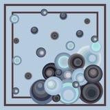 Modello astratto dai cerchi delle dimensioni differenti in un monocromio della struttura per tessuto, sciarpa, carta Fotografia Stock