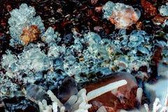 Modello astratto dei cristalli di ghiaccio naturale Immagini Stock