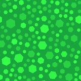 Modello astratto dei seamles del poligono, colore verde, Fotografie Stock Libere da Diritti