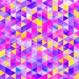 Modello astratto dei triangoli variopinti Tonalità fredde luminose di colore illustrazione vettoriale