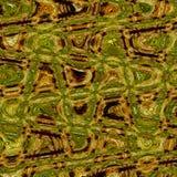 Modello astratto del cammuffamento nei colori verdi ed ocracei, stile della foresta illustrazione vettoriale