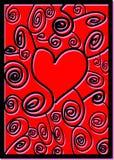 Modello astratto del cuore illustrazione di stock