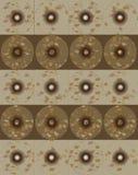 Modello astratto del fondo con i cerchi Immagine Stock Libera da Diritti
