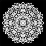 Modello astratto del pizzo del cerchio Fotografie Stock Libere da Diritti