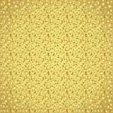 Modello astratto del poligono dell'oro su fondo variopinto Immagini Stock