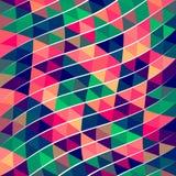 Modello astratto del triangolo del pixel Fotografie Stock