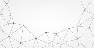 Modello astratto del triangolo di vettore Fondo poligonale geometrico della rete struttura della molecola Immagine Stock