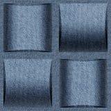 Modello astratto dell'incorniciatura - modello senza cuciture, struttura delle blue jeans fotografia stock libera da diritti