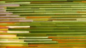 Modello astratto della banda: dipinga i colori a olio su tela Fotografie Stock