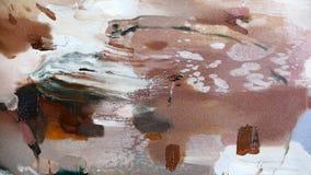 Modello astratto della banda: dipinga i colori a olio su tela Fotografia Stock Libera da Diritti