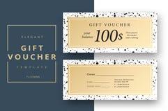 Modello astratto della carta del buono di regalo Buono moderno di sconto o c royalty illustrazione gratis