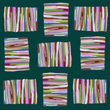 Modello astratto delle bande colorate su un fondo scuro illustrazione di stock