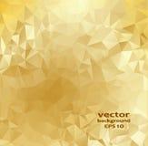 Modello astratto di cristallo dell'oro Progettazione di affari Fotografia Stock