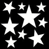 Modello astratto di Digital con stelle a cinque punte Immagine Stock Libera da Diritti