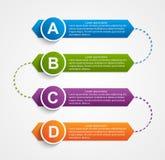 Modello astratto di disegno di infographics Immagine Stock Libera da Diritti