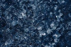 Modello astratto di ghiaccio blu scuro Immagini Stock Libere da Diritti