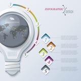 Modello astratto di Infographic dell'illustrazione Fotografie Stock Libere da Diritti