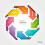Modello astratto di infographics della freccia. Fotografie Stock Libere da Diritti