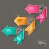 Modello astratto di infographics della freccia. Immagine Stock