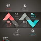 Modello astratto di infographics della freccia di origami. Fotografie Stock