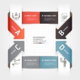Modello astratto di infographics di affari della freccia. Fotografia Stock Libera da Diritti