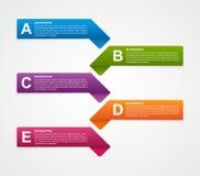 Modello astratto di infographics di opzioni di affari Immagine Stock