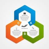 Modello astratto di infographics di opzioni di affari Immagine Stock Libera da Diritti