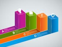 Modello astratto di infographics di opzioni di affari 3D royalty illustrazione gratis